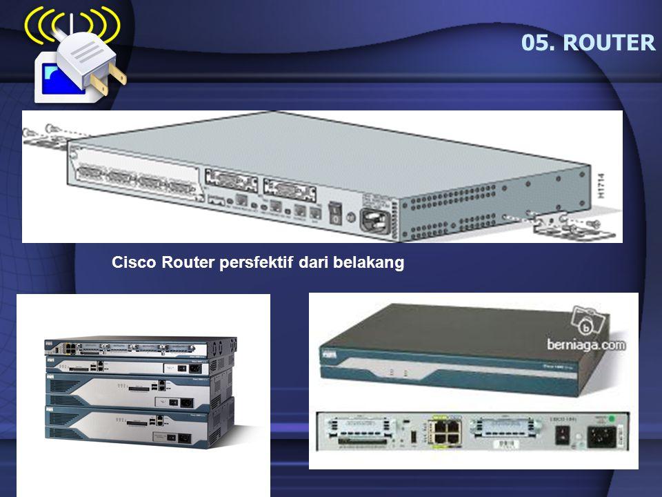 05. ROUTER Cisco Router persfektif dari belakang