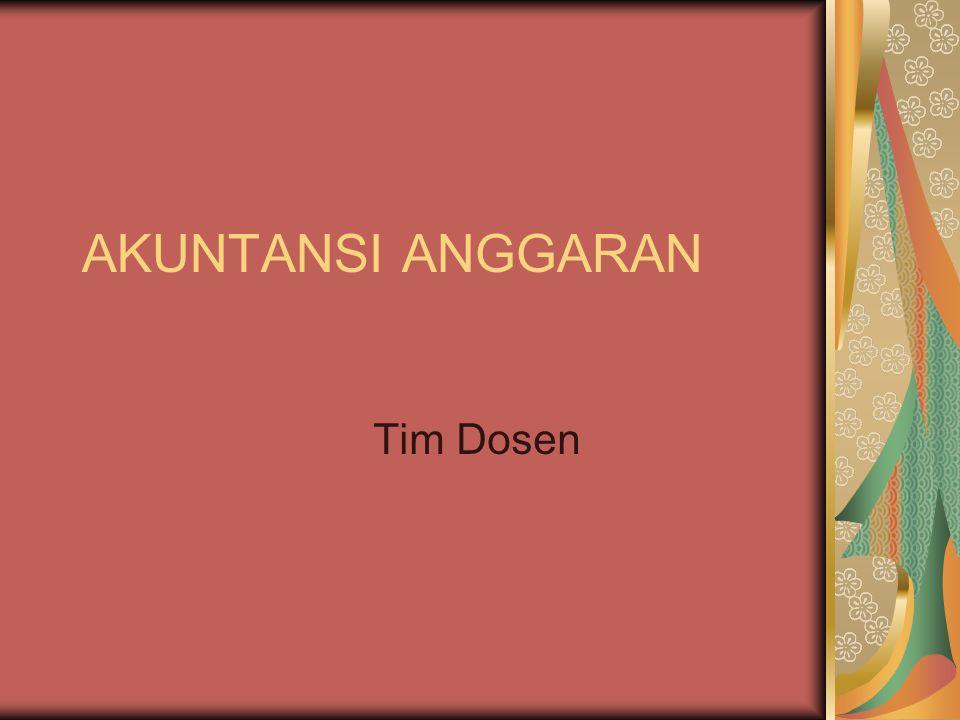 AKUNTANSI ANGGARAN Tim Dosen