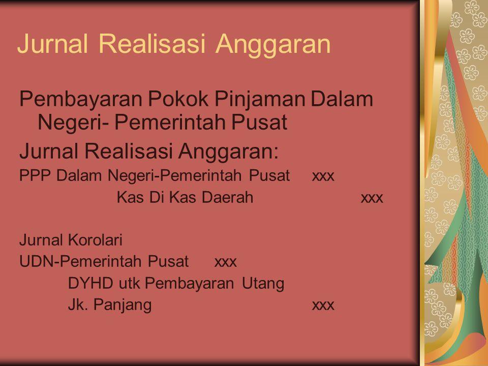 Jurnal Realisasi Anggaran Pembayaran Pokok Pinjaman Dalam Negeri- Pemerintah Pusat Jurnal Realisasi Anggaran: PPP Dalam Negeri-Pemerintah Pusatxxx Kas