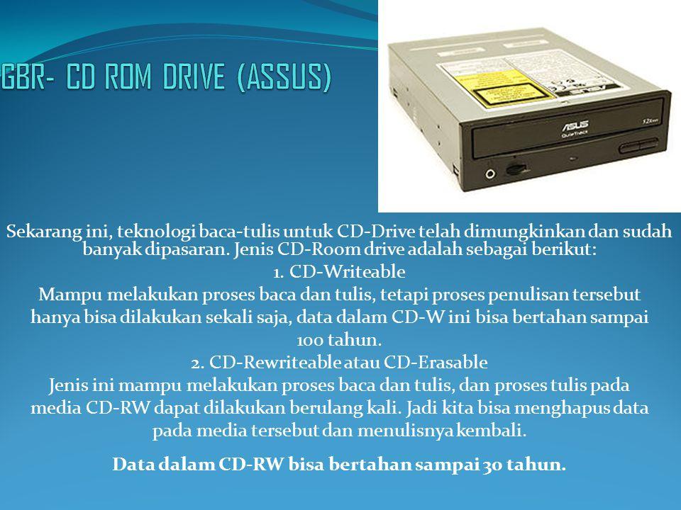 Sekarang ini, teknologi baca-tulis untuk CD-Drive telah dimungkinkan dan sudah banyak dipasaran. Jenis CD-Room drive adalah sebagai berikut: 1. CD-Wri