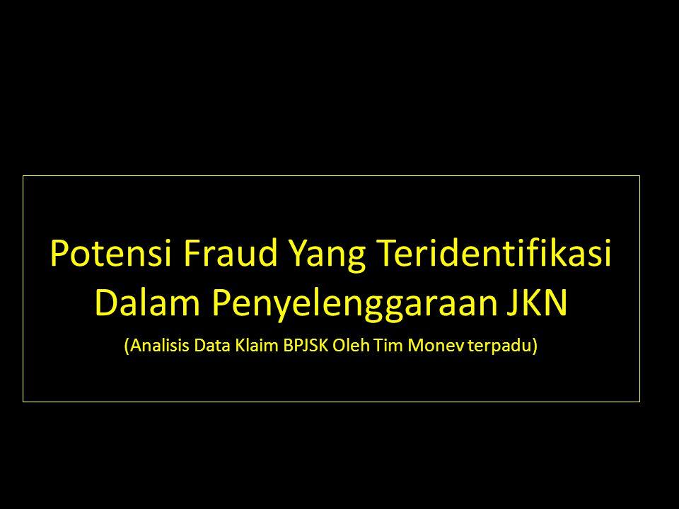 JAMINAN KESEHATAN NASIONAL Lokus Terjadinya Fraud 6 JKN Provider: - Institusi -Individu Peserta Badan Penyeleng- gara