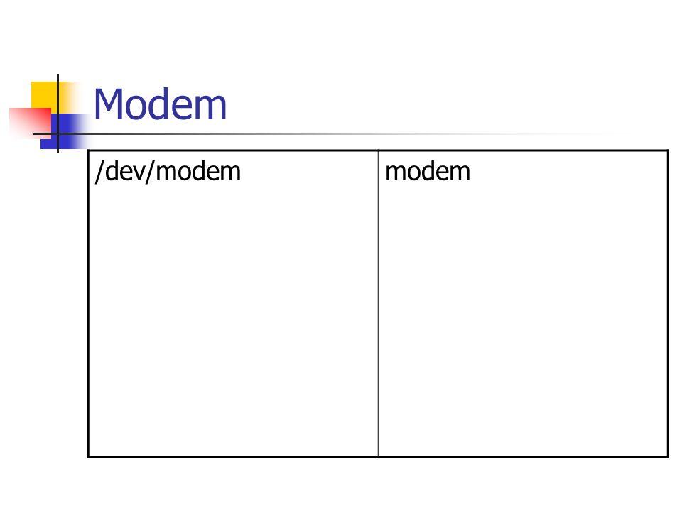 Modem /dev/modemmodem