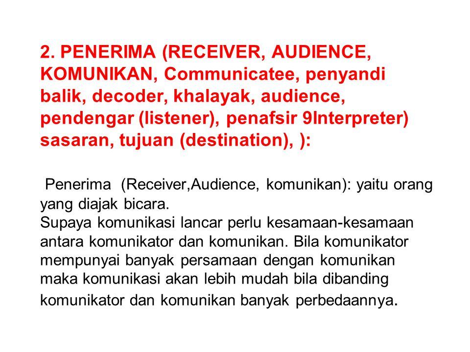 1. SUMBER (SOURCE, SENDER, pengirim, penyandi (encoder), pembicara (Spiker), Originator, KOMUNIKATOR) : Yaitu orang, individu, kelompok, organisasi, p