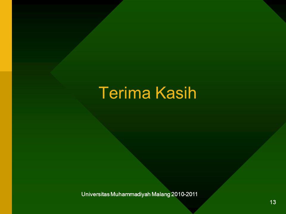 Terima Kasih Universitas Muhammadiyah Malang 2010-2011 13