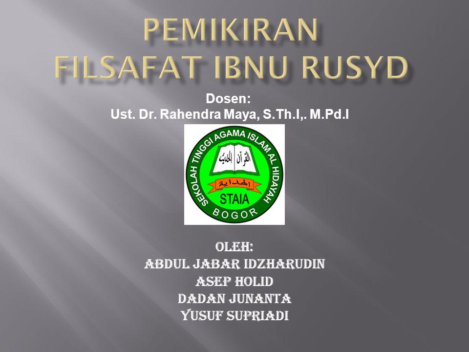 Oleh: Abdul jabar idzharudin Asep Holid Dadan Junanta Yusuf Supriadi Dosen: Ust. Dr. Rahendra Maya, S.Th.I,. M.Pd.I