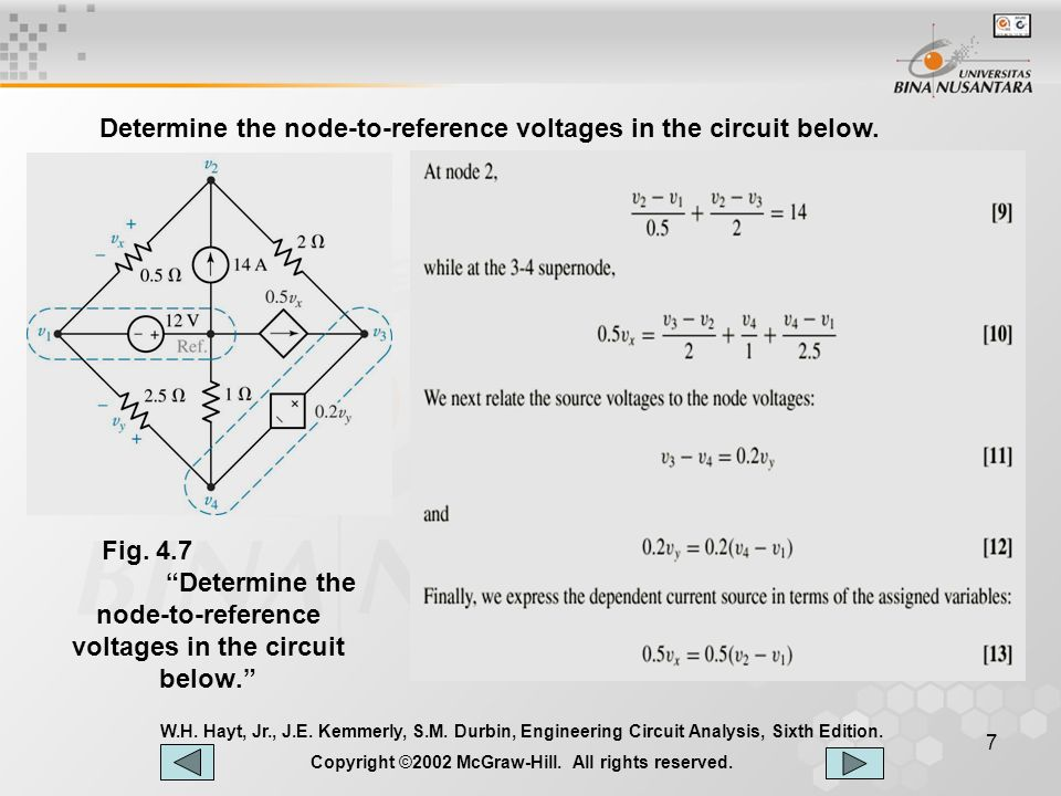 8 W.H.Hayt, Jr., J.E. Kemmerly, S.M. Durbin, Engineering Circuit Analysis, Sixth Edition.