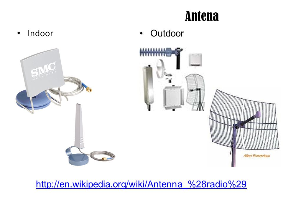 Access Point PC Base AP (PCI Slot) Hardware Base AP (Indoor) Hardware Base AP (Outdoor) http://en.wikipedia.org/wiki/Access_point