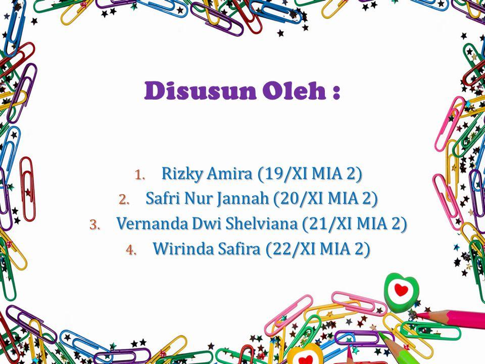 1.Rizky Amira (19/XI MIA 2) 2. Safri Nur Jannah (20/XI MIA 2) 3.