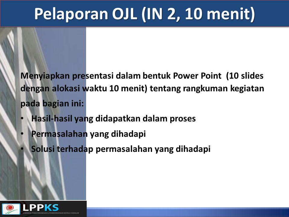 Menyiapkan presentasi dalam bentuk Power Point (10 slides dengan alokasi waktu 10 menit) tentang rangkuman kegiatan pada bagian ini: Hasil-hasil yang