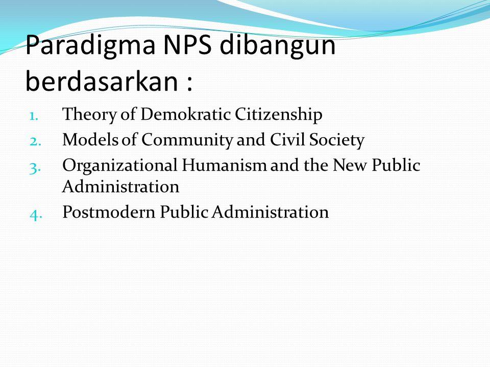 7 Gagasan Inti Paradigma NPS : 1.Serve Citizens, Not Customers 2.