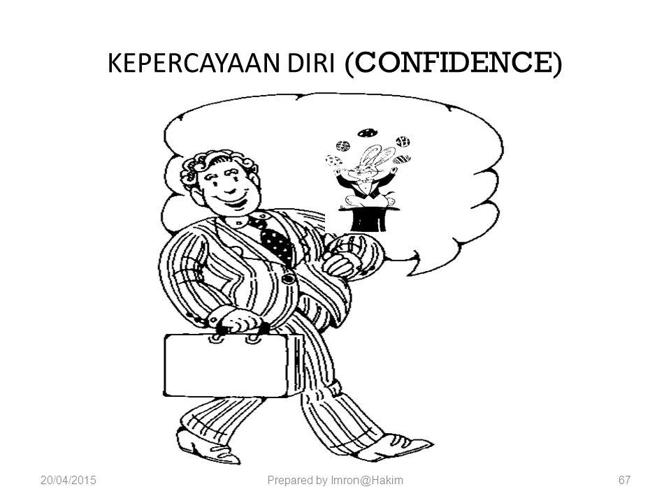 KEPERCAYAAN DIRI (CONFIDENCE) 20/04/2015Prepared by Imron@Hakim67