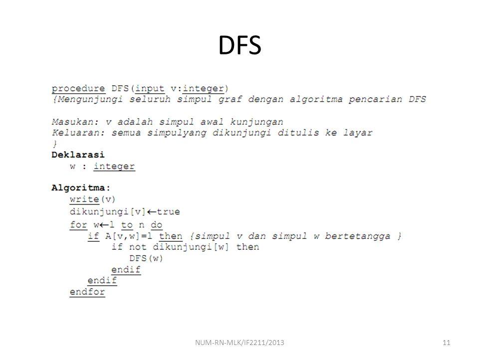 DFS 11NUM-RN-MLK/IF2211/2013