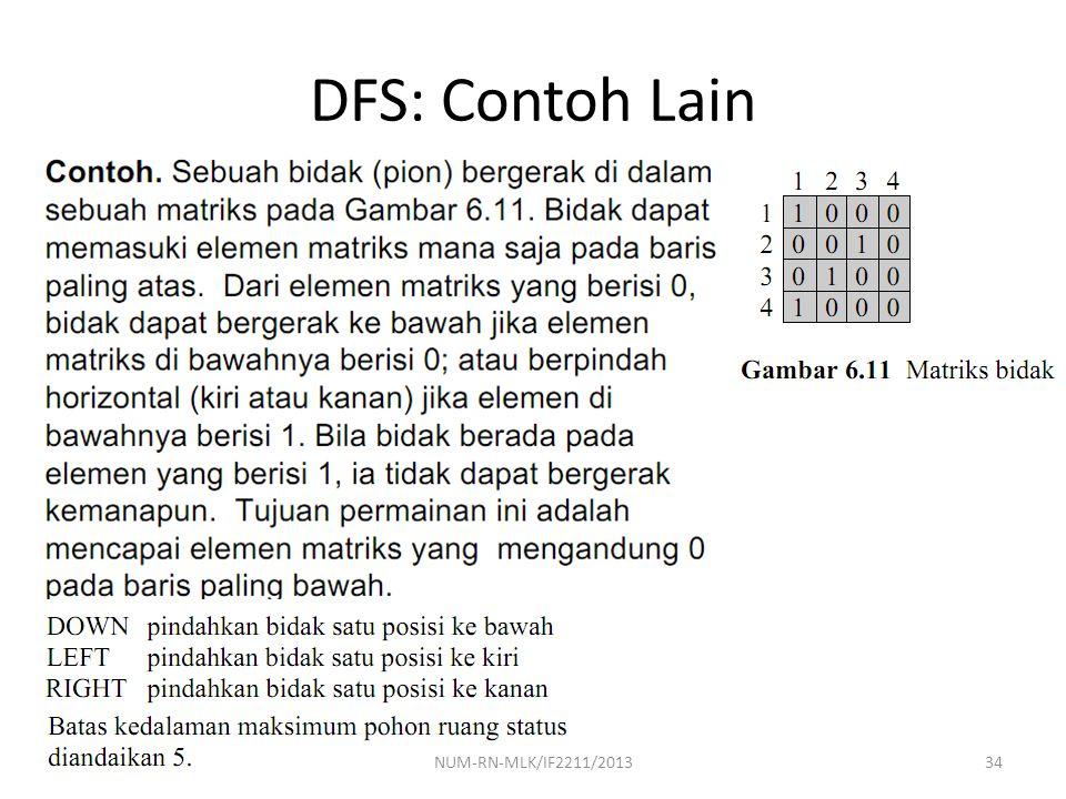 DFS: Contoh Lain 34NUM-RN-MLK/IF2211/2013