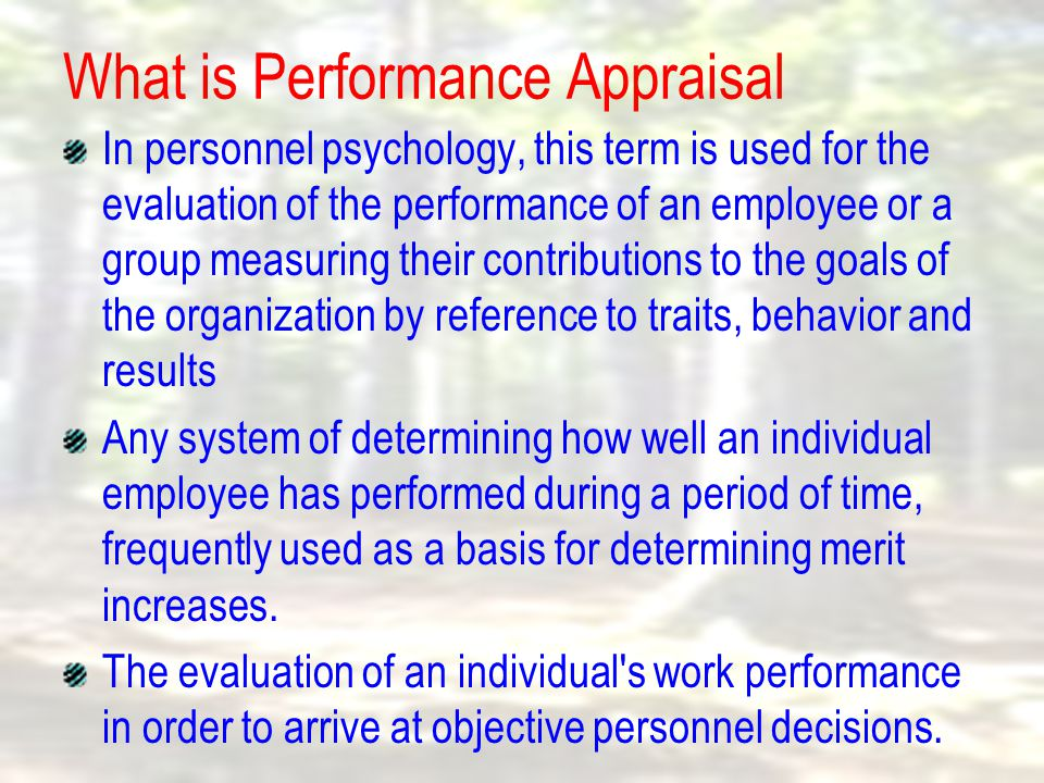  Rating Scales, requires the rater to provide a subjective evaluation of an individual's performance along a scale from low to high.