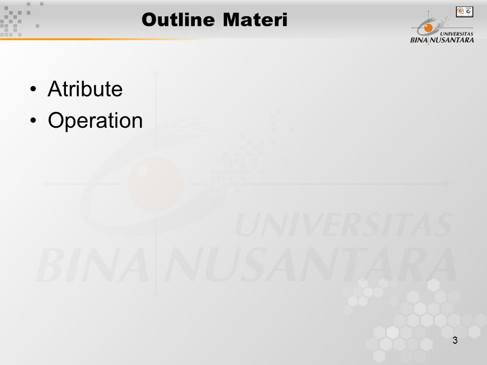 3 Outline Materi Atribute Operation