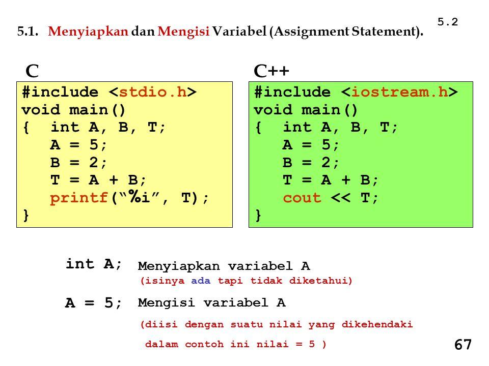 Tercetak : _ #include void main() {signed char C = 255; printf( %c\n , C); printf( %i\n , C); } Tercetak : _ 255 #include void main() { unsigned char C = 255; printf( %c\n , C); printf( %i\n , C); } 4.