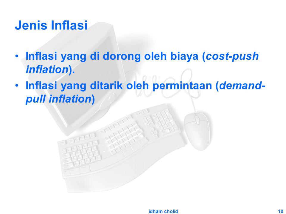 10 Jenis Inflasi Inflasi yang di dorong oleh biaya (cost-push inflation). Inflasi yang ditarik oleh permintaan (demand- pull inflation) idham cholid