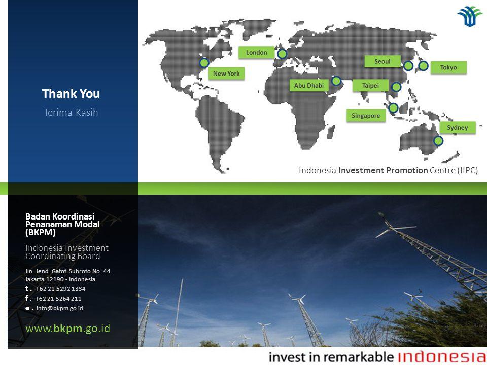 Badan Koordinasi Penanaman Modal (BKPM) Indonesia Investment Coordinating Board Jln. Jend. Gatot Subroto No. 44 Jakarta 12190 - Indonesia t. +62 21 52