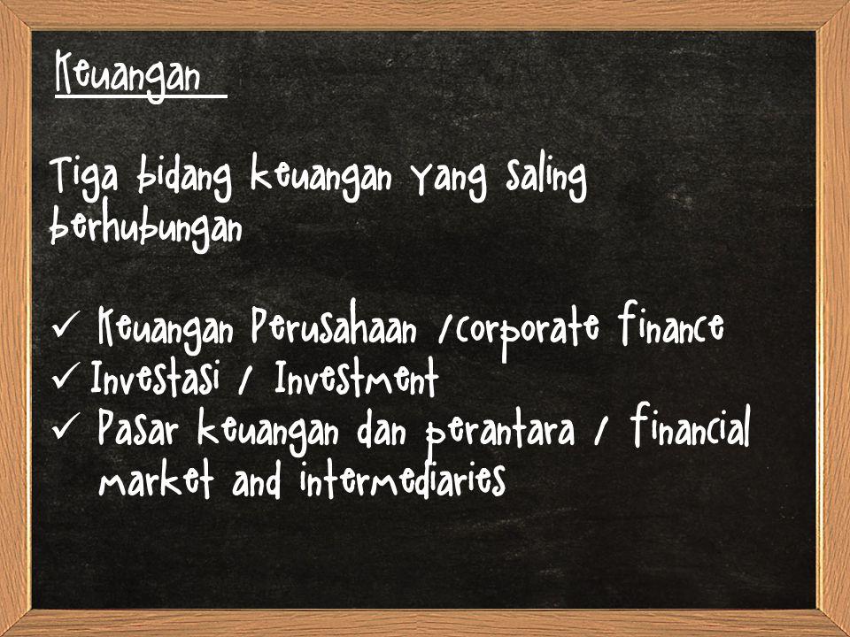 Keuangan: Peluang Karir dalam bidang keuangan Uang dan Pasar Modal Investasi <Manajemen Keuangan