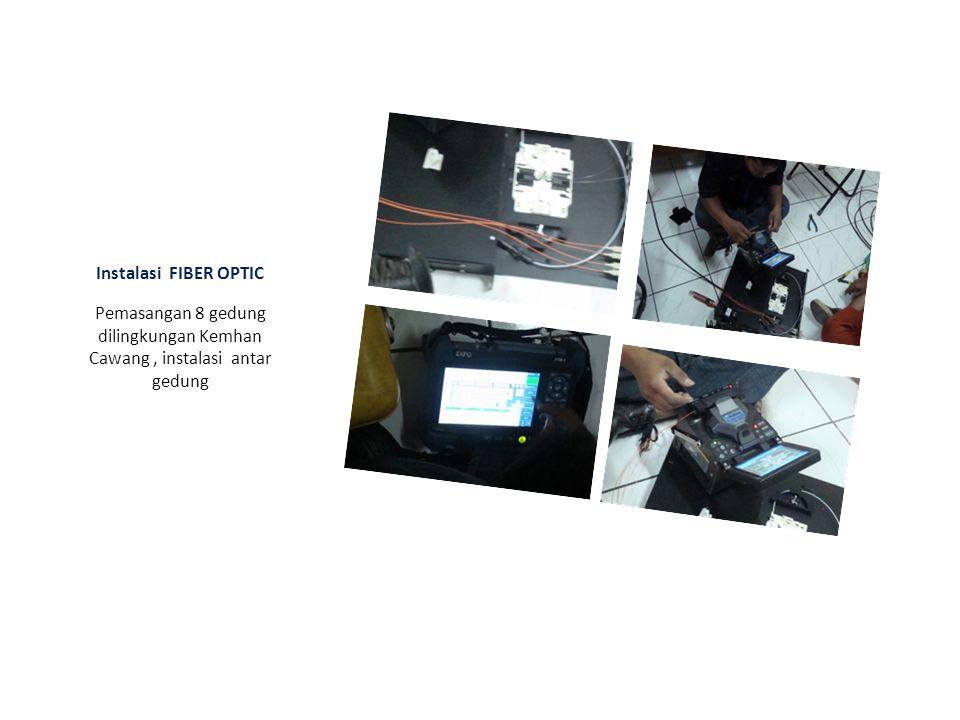 Dokumentasi Pekerjaan : Pemasangan Fiber Optic (FO) Dilingkungan Kementerian Pertahanan.RI Pemasangan Kabel F.O & Instalasi F.O KEMHAN-CAWANG Pemasang