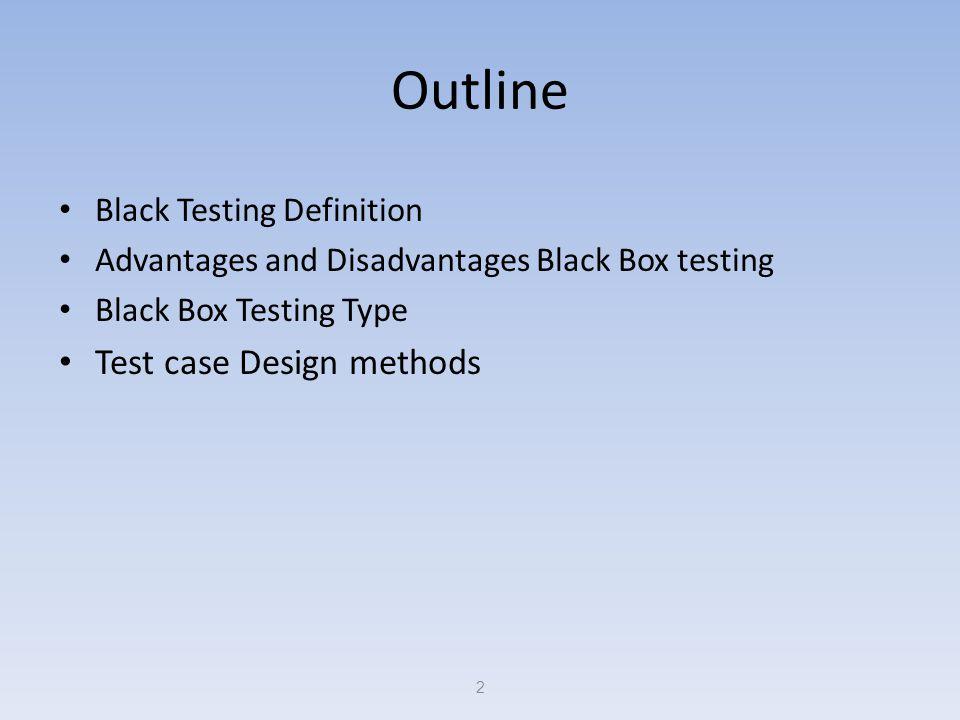 What is Black-Box testing .