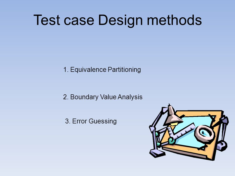 Equivalence class is a subset of data that is representative of a larger class Divide input domain into equivalence classes Attempt to cover classes of errors One test case per equivalence class, to reduce total number of test cases needed InputDomain Equivalence partitioning