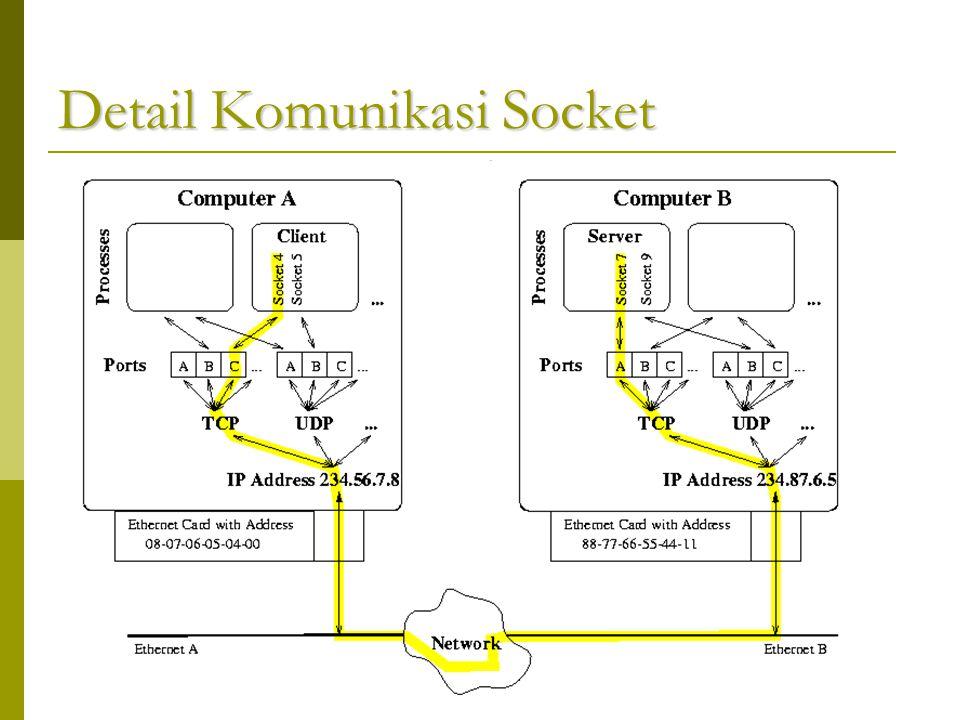 Detail Komunikasi Socket
