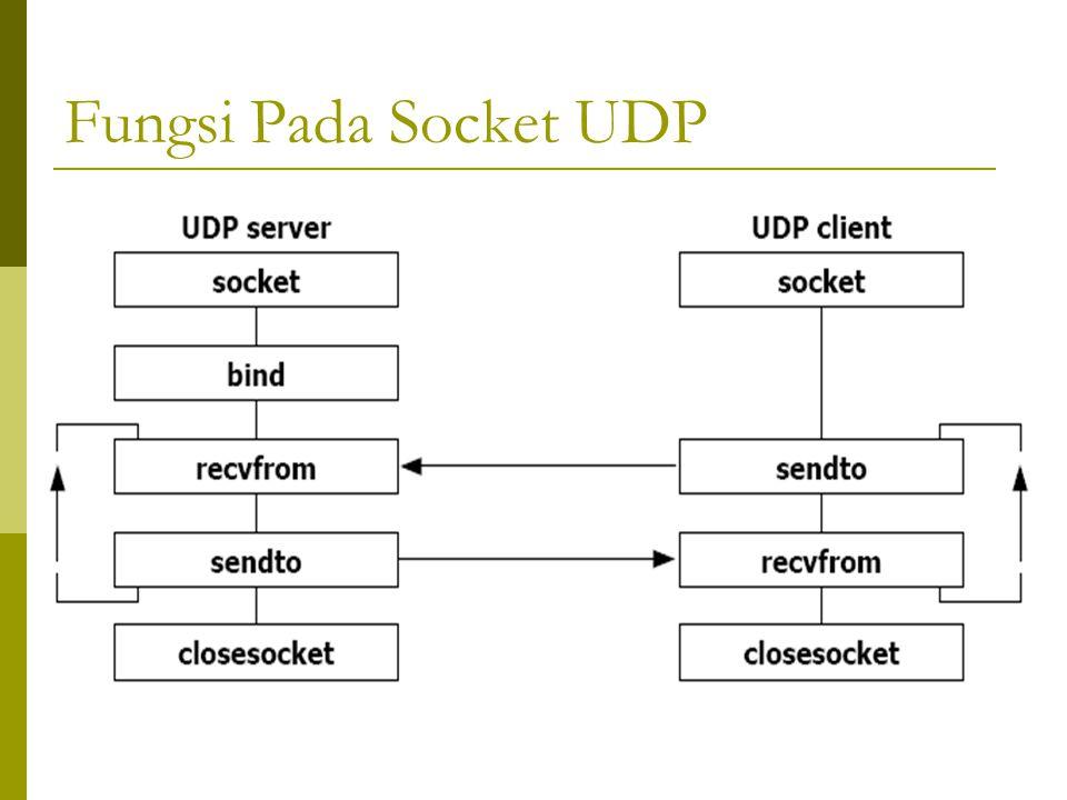Fungsi Pada Socket UDP