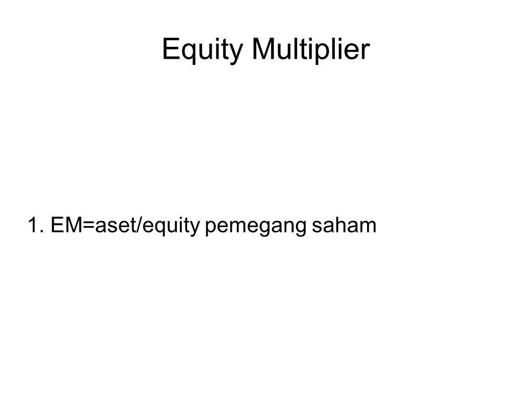 Equity Multiplier 1. EM=aset/equity pemegang saham