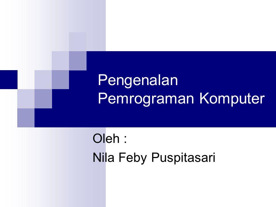 Pengenalan Pemrograman Komputer Oleh : Nila Feby Puspitasari