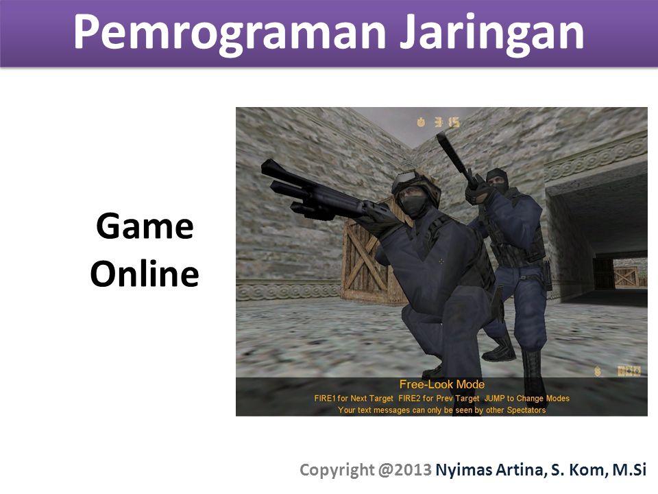Pemrograman Jaringan Copyright @2013 Nyimas Artina, S. Kom, M.Si Game Online