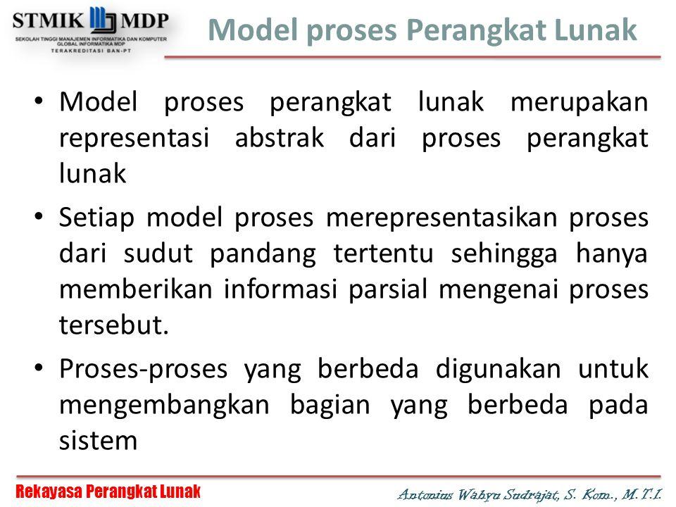 Rekayasa Perangkat Lunak Antonius Wahyu Sudrajat, S.
