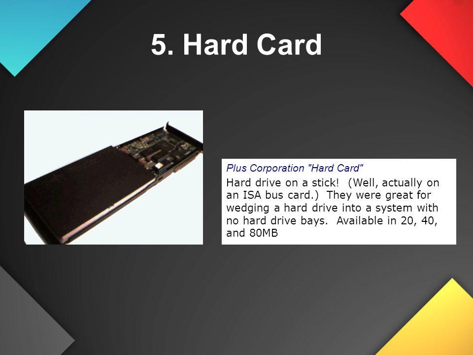 Plus Corporation Hard Card Hard drive on a stick.