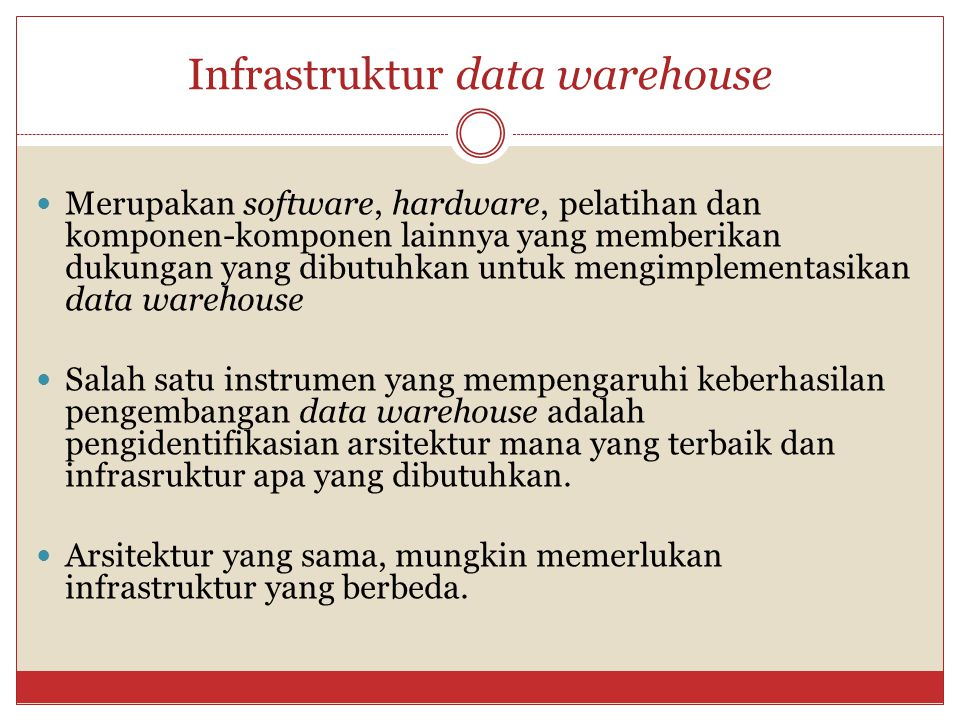 Model Arsitektur Data Warehouse 1.Generic Two-Level Architecture.