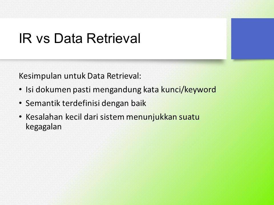 Database vs IR