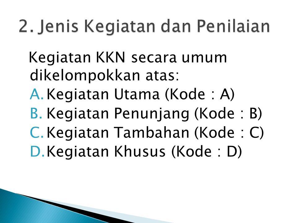  Kegiatan utama adalah kegiatan yang wajib dilaksanakan oleh setiap mahasiswa KKN PPM yang sesuai dengan bidang ilmunya.