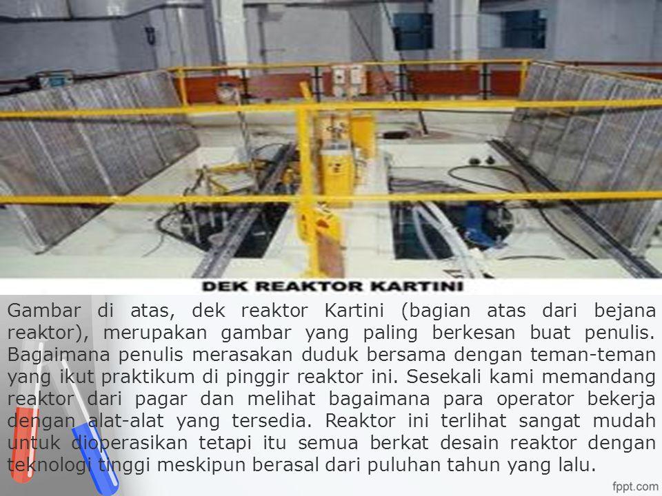 Gambar di atas, dek reaktor Kartini (bagian atas dari bejana reaktor), merupakan gambar yang paling berkesan buat penulis.