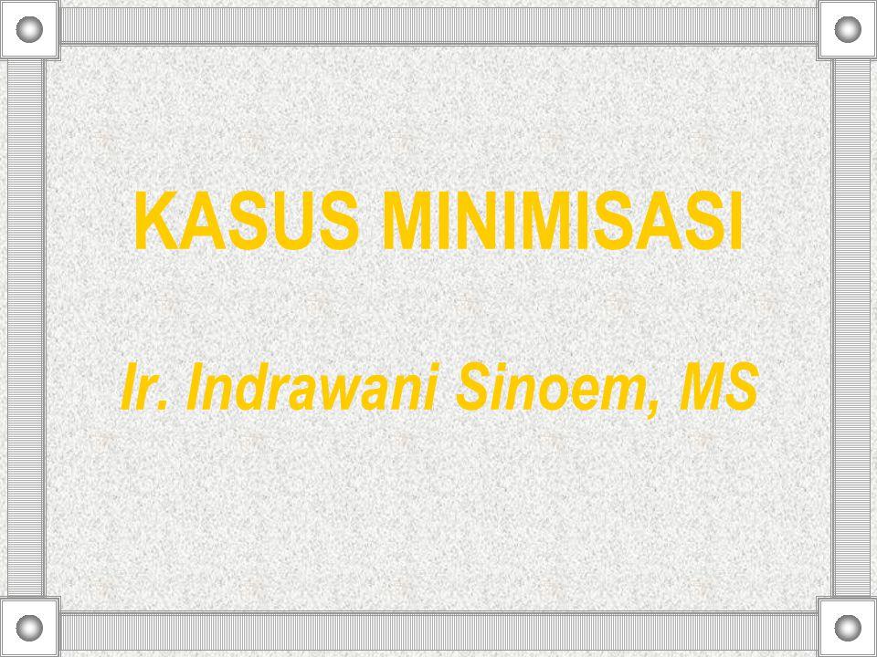 KASUS MINIMISASI Ir. Indrawani Sinoem, MS