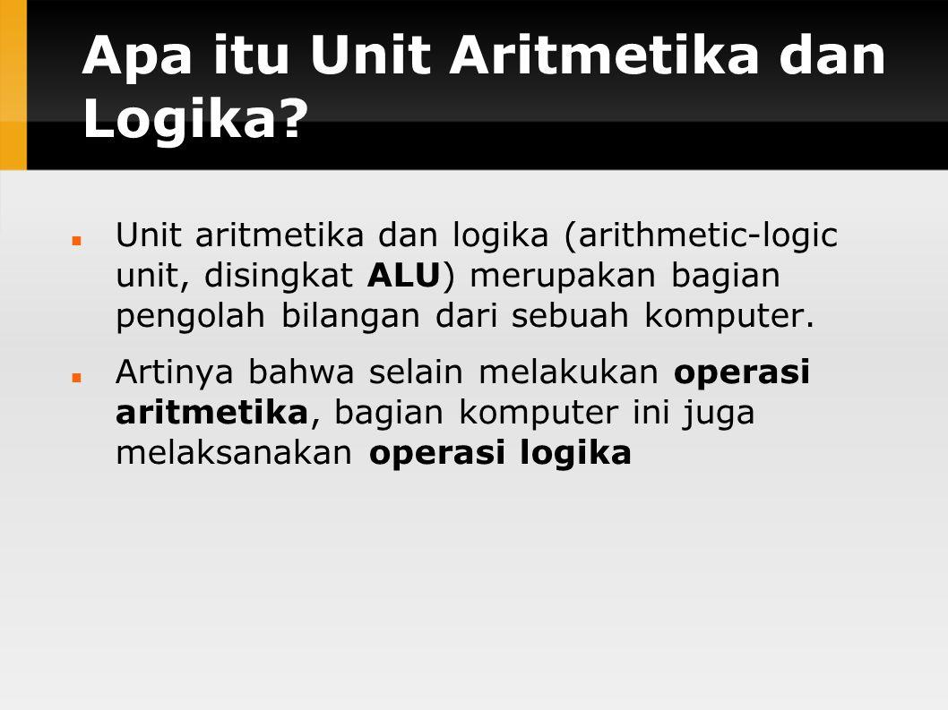 Apa itu Unit Aritmetika dan Logika.