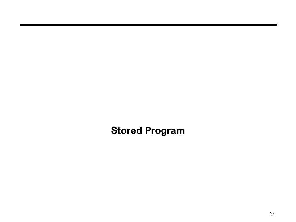 22 Stored Program