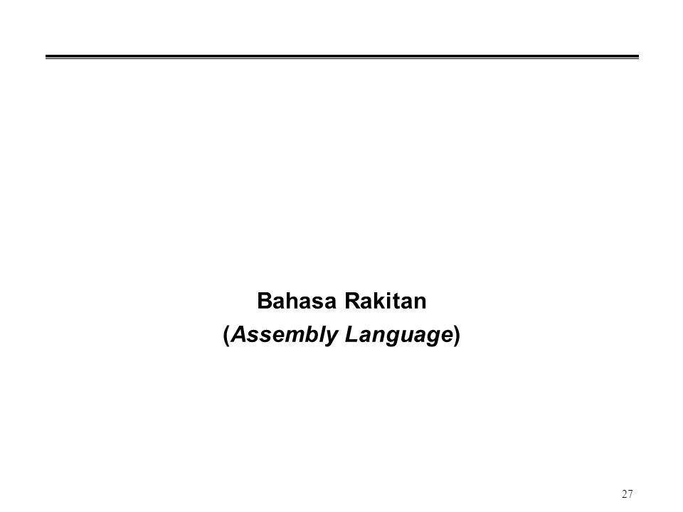 27 Bahasa Rakitan (Assembly Language)