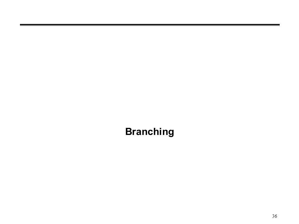 36 Branching