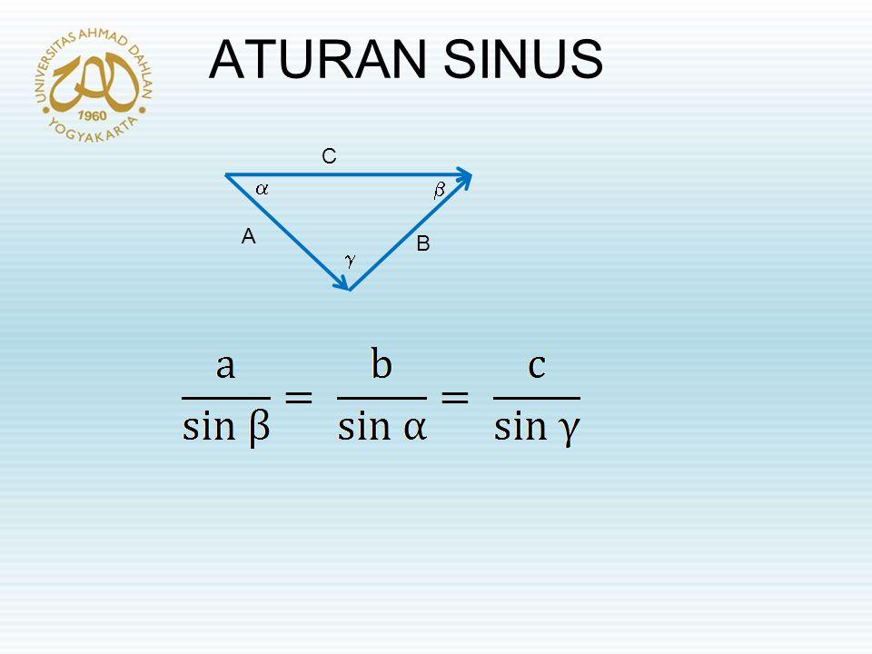 ATURAN SINUS    C B A