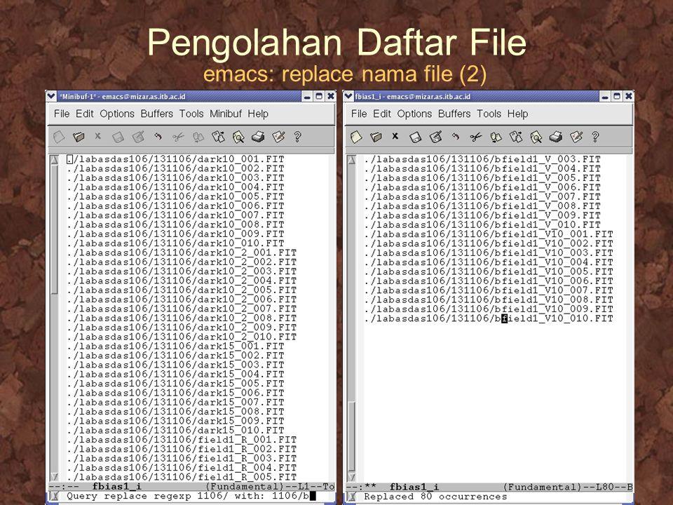 Pengolahan Daftar File emacs: replace nama file (2)