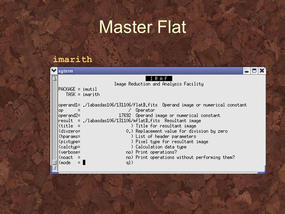 Master Flat imarith