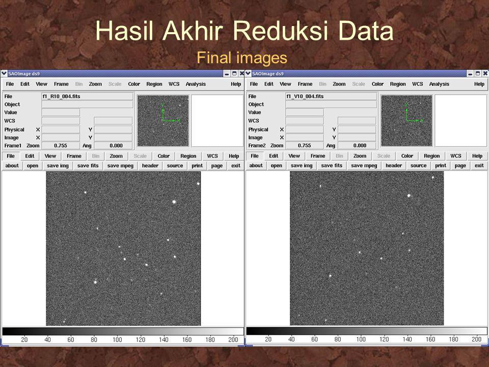 Hasil Akhir Reduksi Data Final images