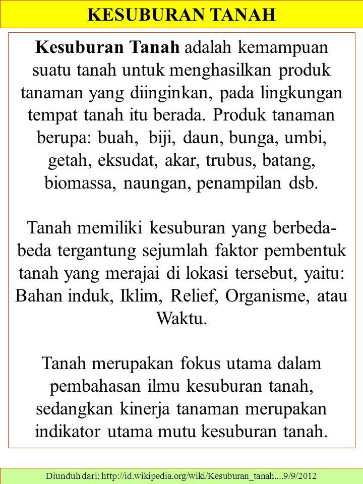 CARA MENJAGA KESUBURAN TANAH Diunduh dari: http://rishadicorp.blogspot.com/2011/03/cara-menjaga-kesuburan-tanah.html..