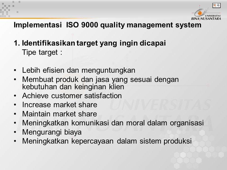 When you adopt ISO 9001:2000, you must strive for the satisfaction of your customers and the continual improvement of your quality management system.