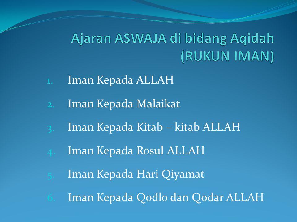  Usaha untuk mempertahankan faham Ahlus-Sunnah Wal Jama'ah dan rasa cinta tanah air (untuk Persatuan dan Kesatuan).
