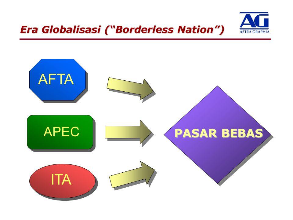 "AFTA ITA APEC Era Globalisasi (""Borderless Nation"") PASAR BEBAS"